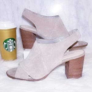 Nine West Suede Peep Toe Ankle Booties Boots 10.5